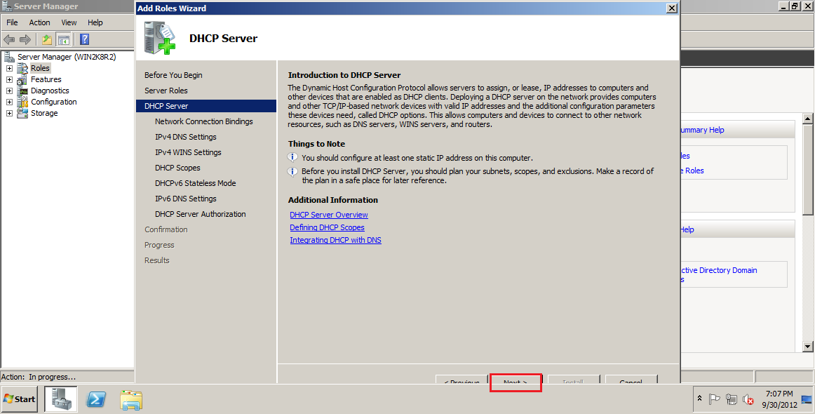 DHCP Call Manager